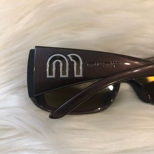Miu Miu Metallic Brown Sunglasses